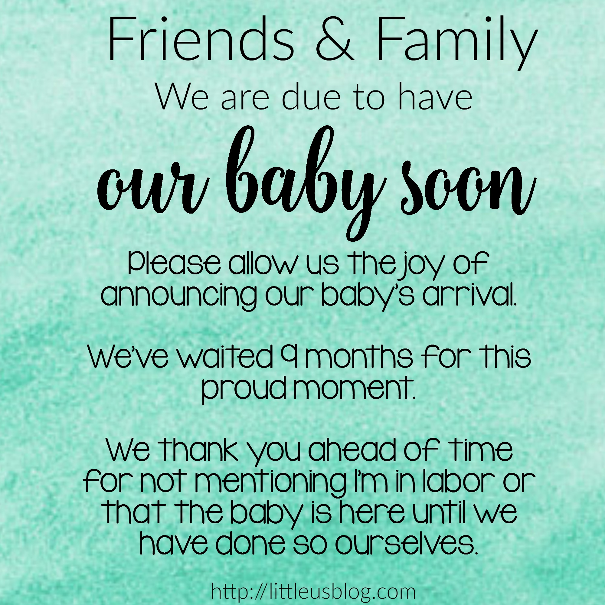 Birth Announcement Quotes Facebook Etiquette And The Birth Of A Baby  Little Us