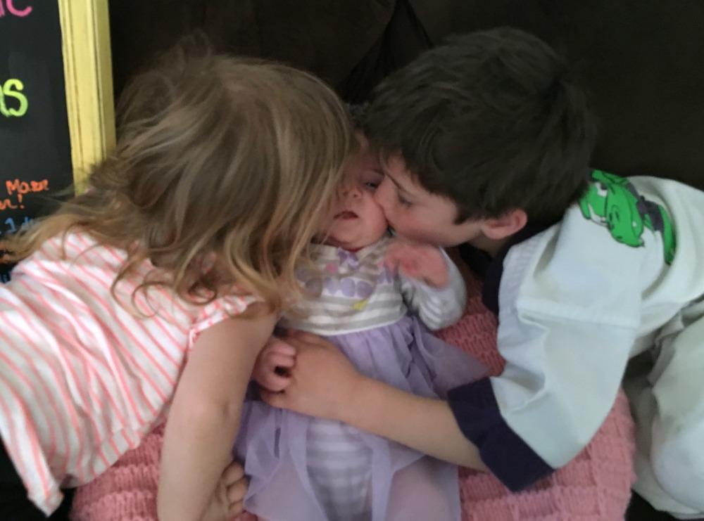 kisses for Emilia 2 months