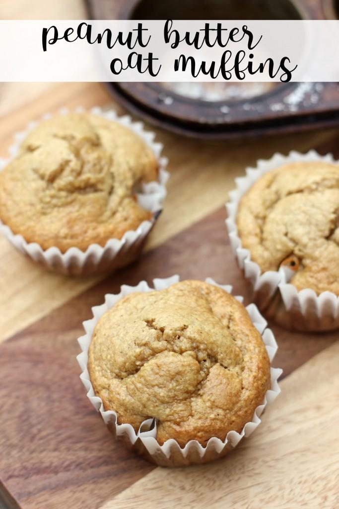 yummy peanut butter oat muffins