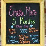 Emilia is 5 Months