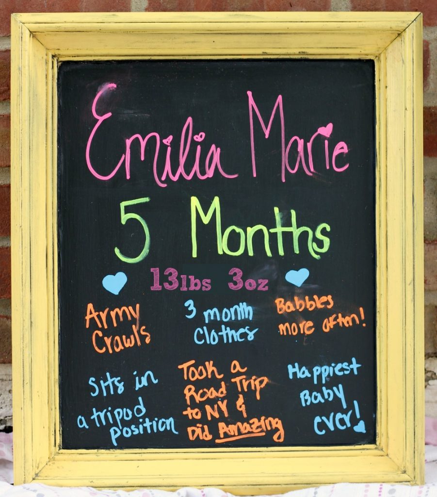 Emilia Marie is 5 Months Frame
