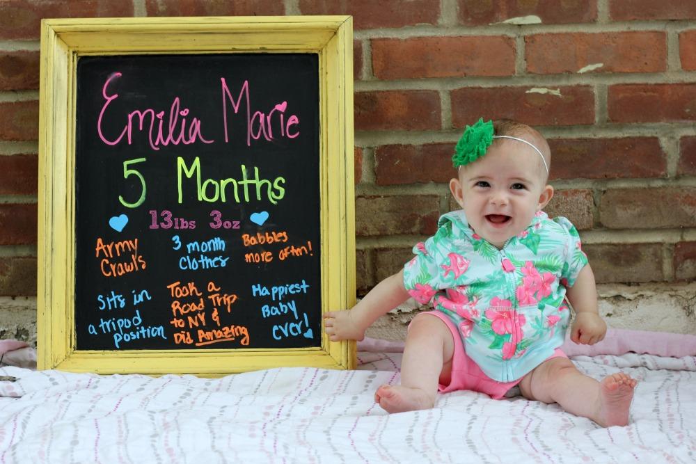 Emilia is 5 Months 2