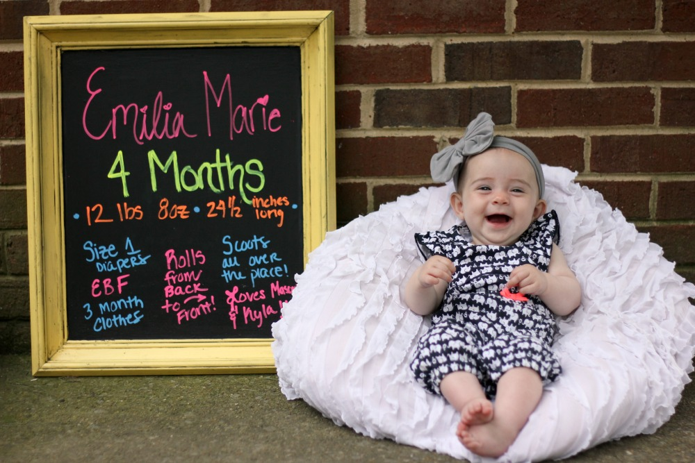 Emilia is 4 months 2