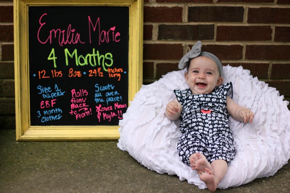 Emilia is 4 months