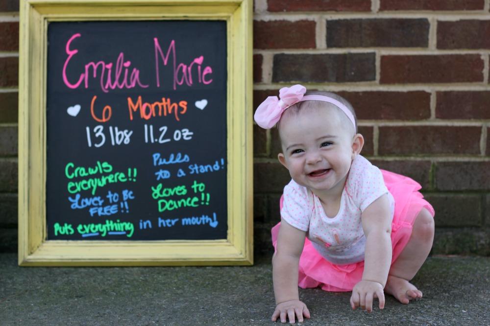 Emilia is six months 2