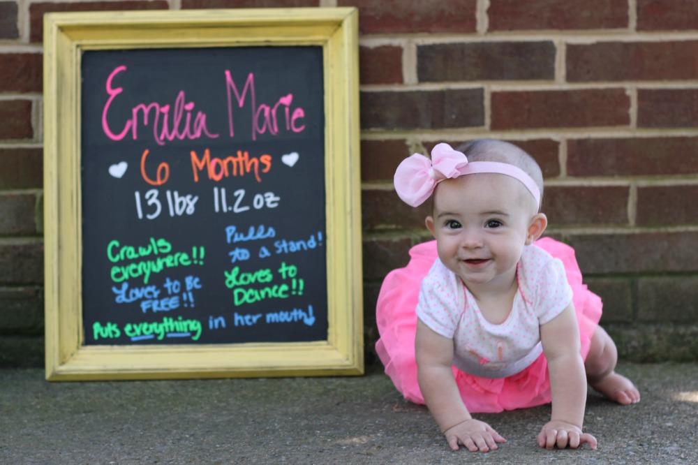 Emilia is six months 3