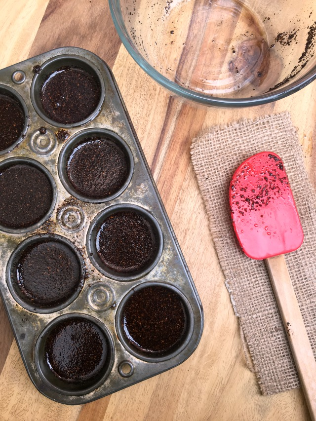 pour into muffin tins