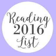 2016 Reading List