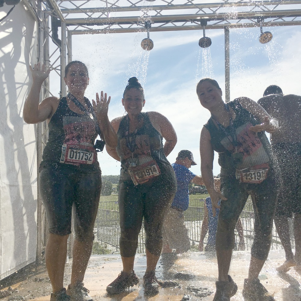 take a shower at Warrior Dash