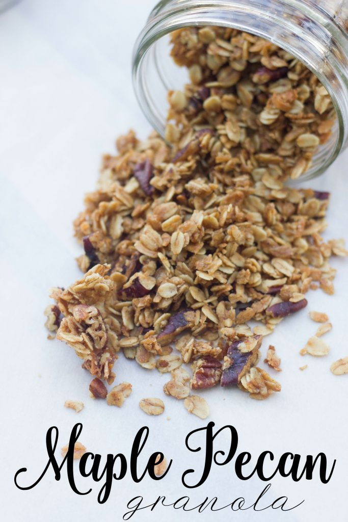 easy Maple Pecan Granola