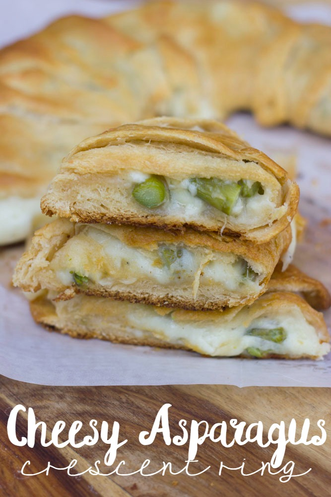 easy cheesy asparagus crescent ring