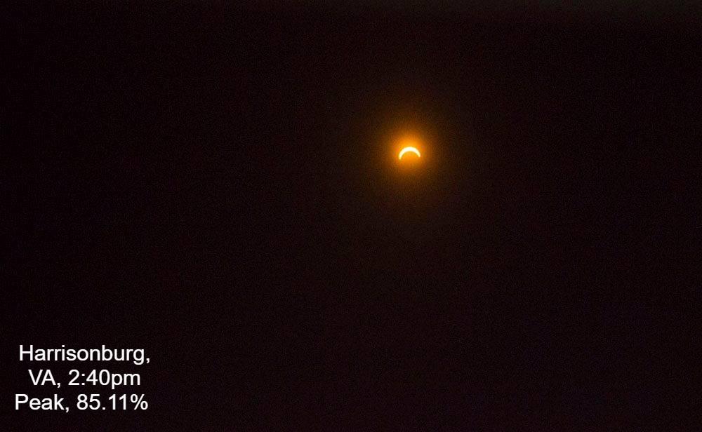 harrisonburg eclipse